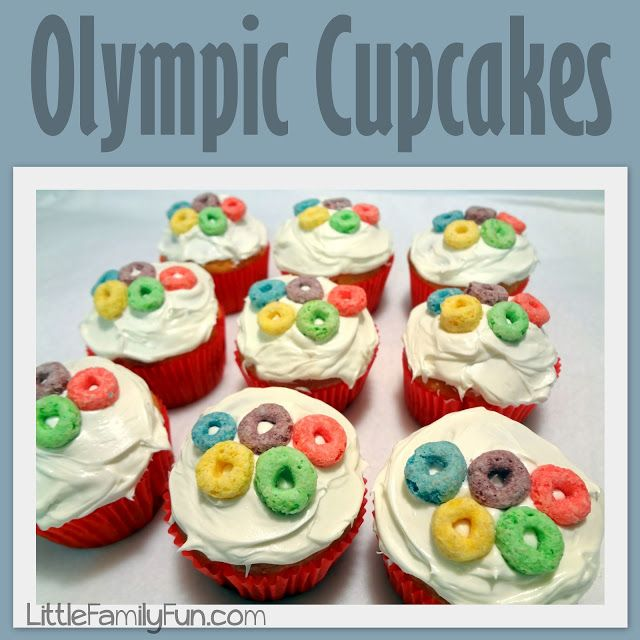 Found some more great snacks! Here you will find Little Family Fun: Family Olympics: Cupcakes!