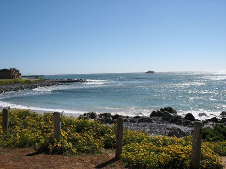 The seafront at Yzerfontein, West Coast - Western Cape, South Africa