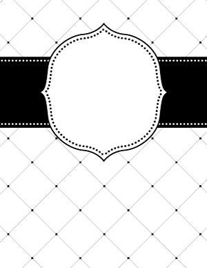 Black and White Lattice Binder Cover