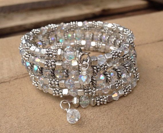 Bridal Sparkler Multi Strand Wrap Bracelet With by McHughCreations, $37.95