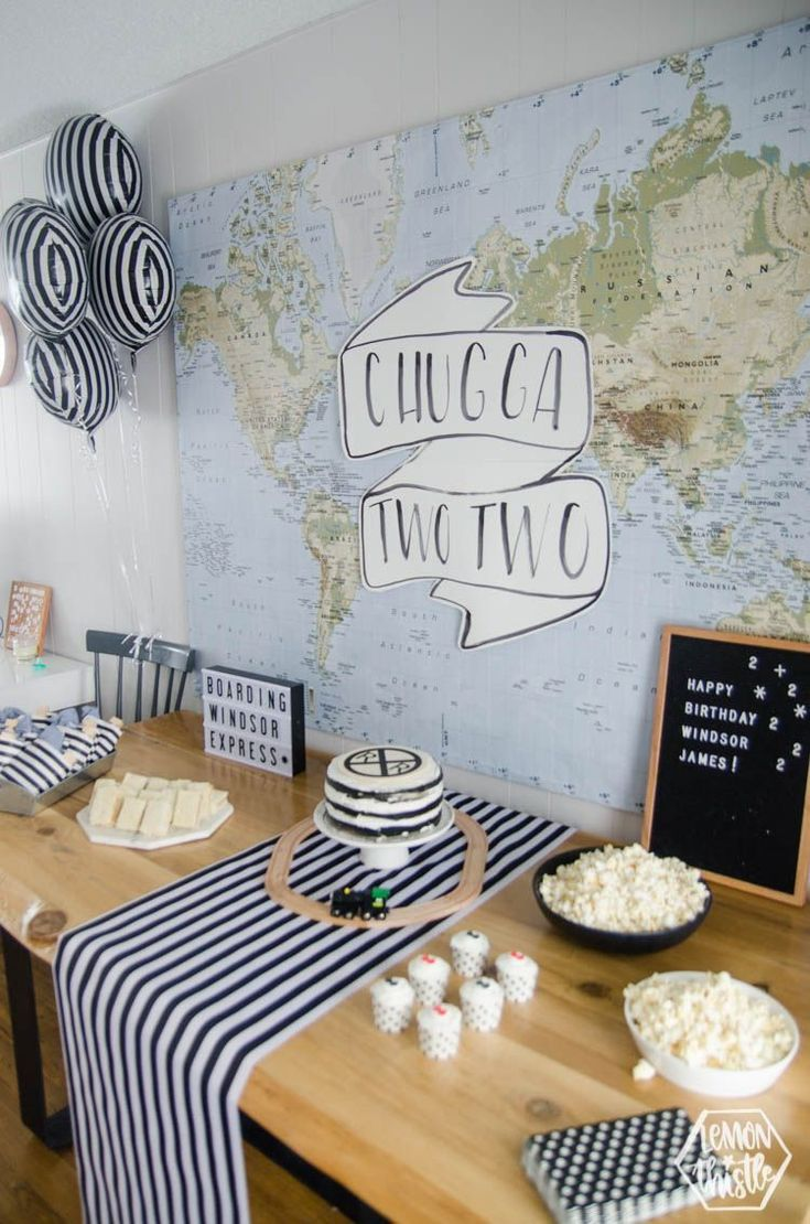 Chugga Two Two! Modern Train Themed Birthday Party Have a little one that loves …  – event-planing