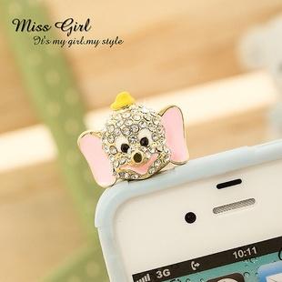 celine bag look alike - Swarovski Crystal Pink Disney Bear Earphone Anti Dust Cap Plug Fr ...