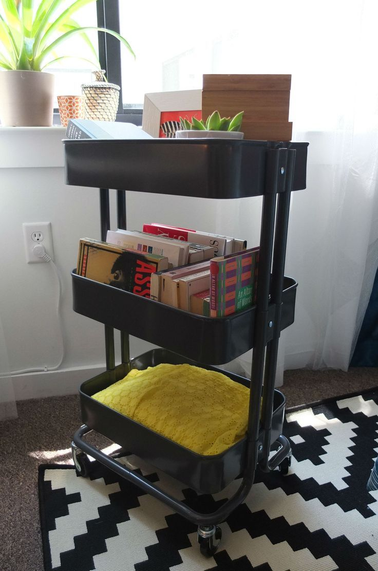 Ikea Aneboda Wardrobe Extra Shelf ~ Utility cart, Wheels and Small spaces on Pinterest