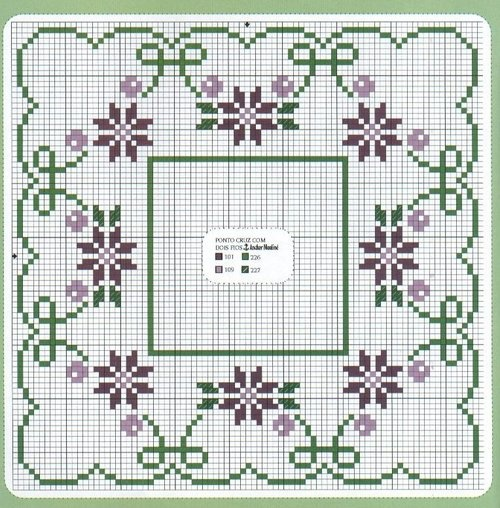 floral cross stitch design