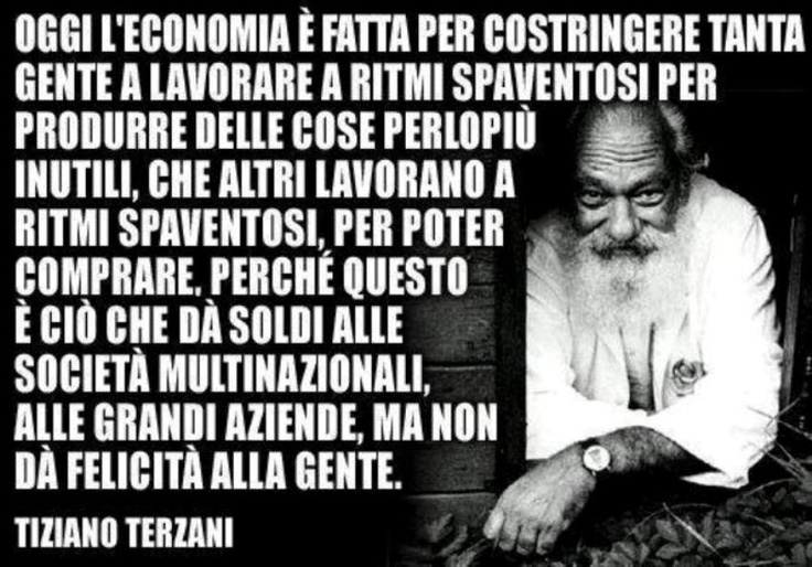 Tiziano Terzani - an important italian wrietr and journalist. He lived in the world and behind the world.