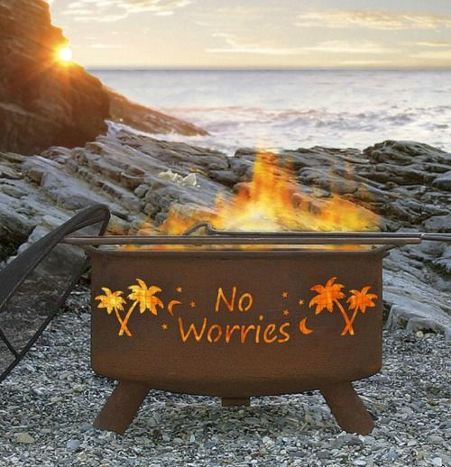 Portable coastal nautical firepit: http://www.completely-coastal.com/2016/04/coastal-firepits-backyard-beach-bonfire.html You can set up this firepit in your backyard, on your patio or porch... and take it to the beach!