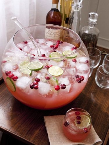 Sparkling Cranberry Cherry Punch