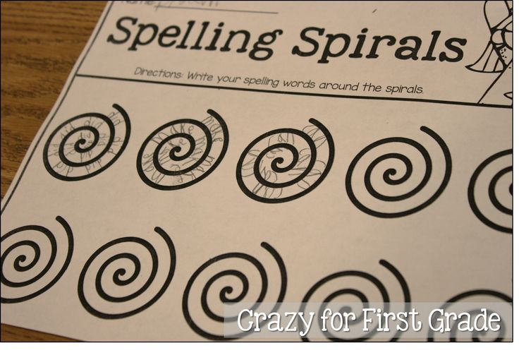 Creative way to get kids practicing sight words or spelling words - have them write a spelling spiral.