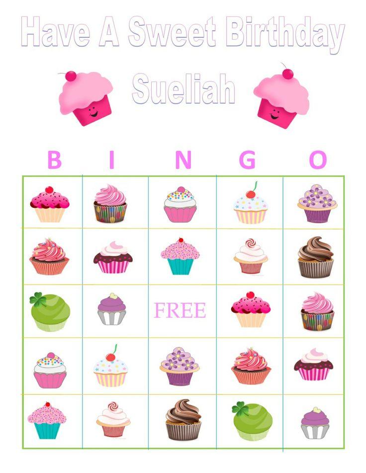 cupcake personalized bingo game - Cupcake Decorating Party