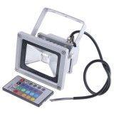 10W RGB Projektør med fjernstyring