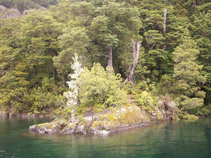 Lago Epulafquen, Neuquén, Argentina, en plena Cordillera de los Andes ...