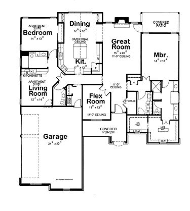 17 best images about a in law suite on pinterest monster for Ranch house plans with inlaw apartment
