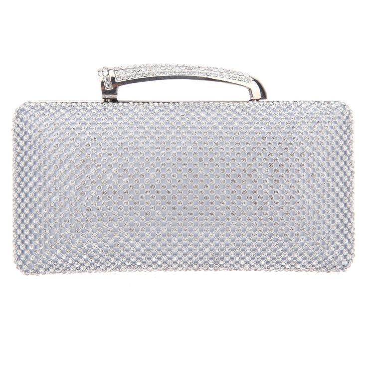 Fawziya Ladies Clutches With Handle Crystal Evening Clutch Bags-Silver. As shown, despite of very low prices due to direct sale of the factory, as many evaluated, it is more gorgeous than its pictures. All its angle shines. It is a beautiful and elegant evening handbag. Crystal diamond: Fawziya adopts domestic AA diamond with 18 cut surfaces, so it has good refraction effect, and can shine. Hardware: Fawziya uses K gold aluminum-free plating process. Each hardware is well selected to…