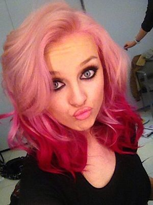 Crazy hair colours :: Perrie Edwards ombre pink hair #CosmoBeautyFest