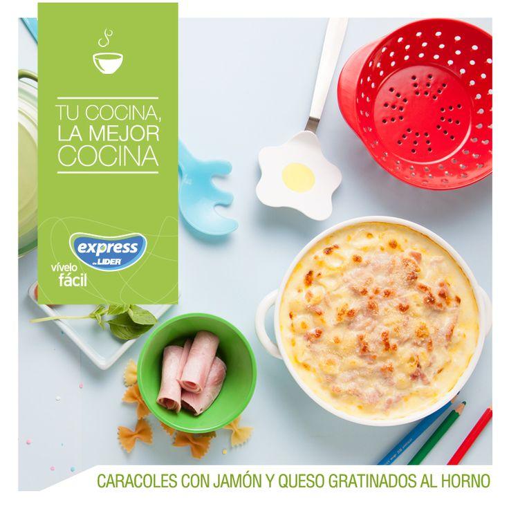 Caracoles con jamón y queso gratinados al horno. #Recetario #Receta #RecetarioExpress #Lider #Food #Foodporn