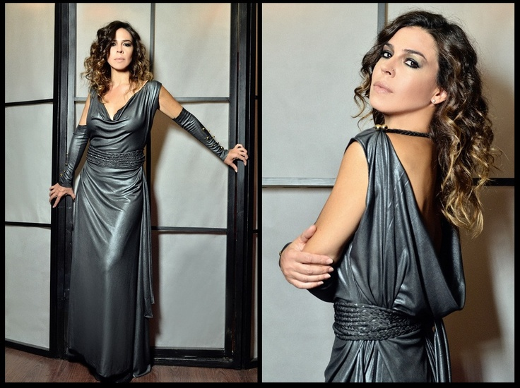 "Natalia Dragoumi in ""Christina Skarpeli"" designs..."