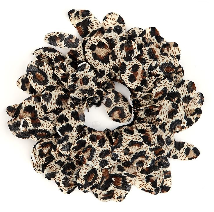 Leopard skin hair accessories made in italy