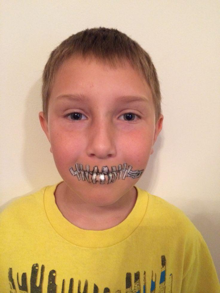 Idiom costume- Zip Your Lips!