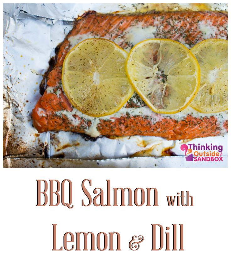 BBQ Salmon with Lemon and Dill
