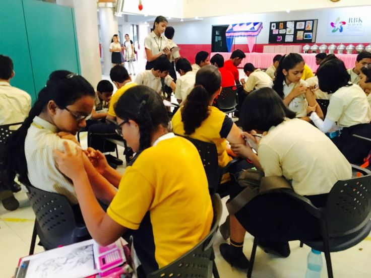 RBK School - ICSE Board Schools in Mira Road organized the tattoo making competition for 8th std students.