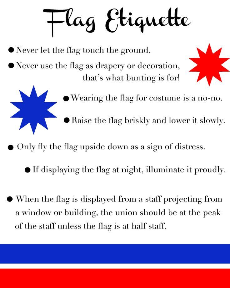Flag Etiquette -- for Brownies earning their Celebrating Community badge.