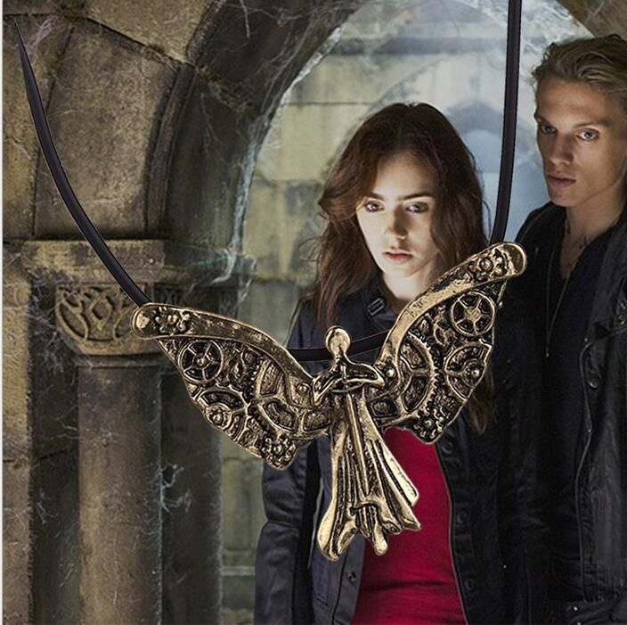 The Mortal Instruments City of Bones Tessa's Clockwork Angel Necklace C305