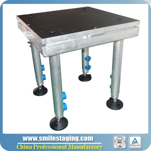 50x50cm stage with 40-60cm stage legs