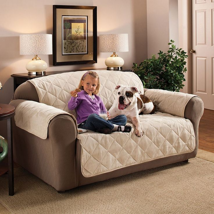 Innovative Textile Solutions Suede Sofa Protector, White