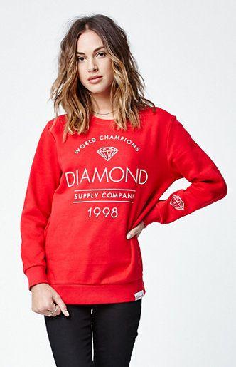 Diamond Supply Co Craftsman Crew Neck Sweatshirt - $60.00