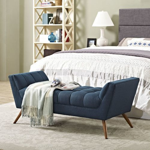 Best 25  Bedroom benches ideas on Pinterest Found it at AllModern   Response Upholstered Bedroom Bench. Bedroom Bench. Home Design Ideas