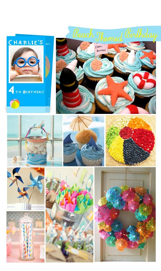 Inspiration Board: Beach Themed Birthday from Planet-cards.co.uk   Planet-Cards UK Blog