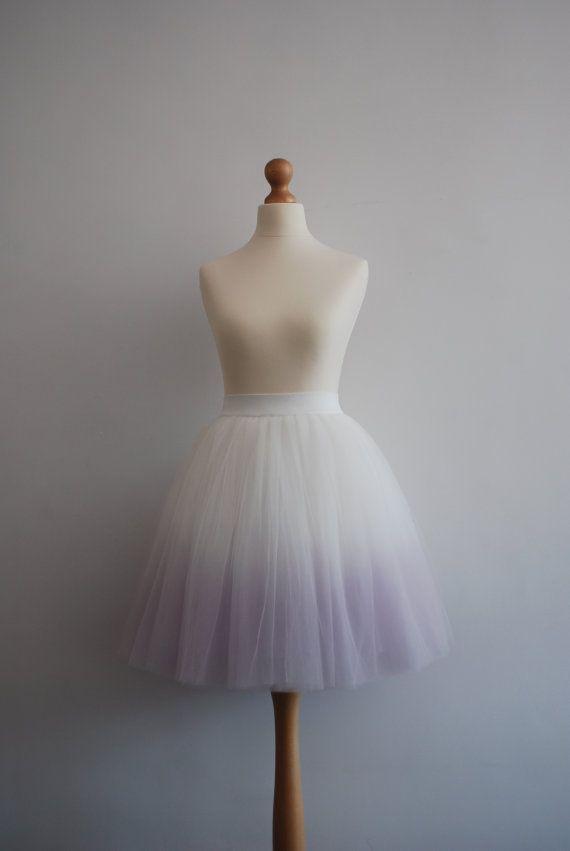 Blushing Ballerina : hand dyed ombre tulle skirt  / adult tutu / ladies tulle skirt / bridesmaid / custom dyed skirt / gradient skirt