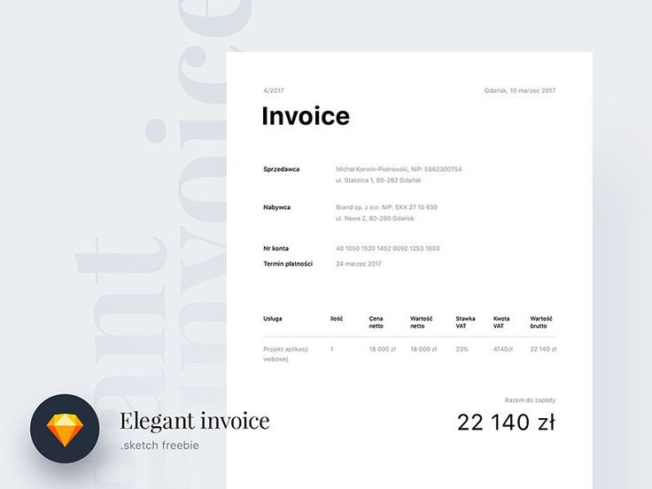 Best Freebies Images On   Invoice Template Role
