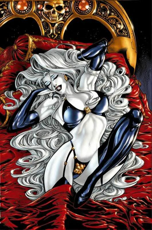 Gotta love lady death! This would be a great tattoo!!!