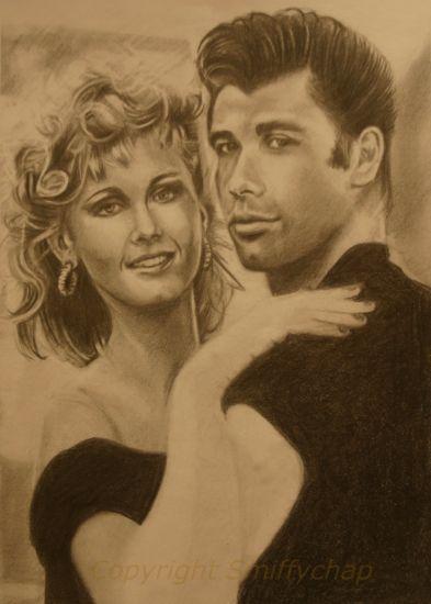 John Travolta, Olivia Newton-John by smiffychap