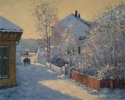 Tore Juell (1942-): Vintersol Barthebrygga