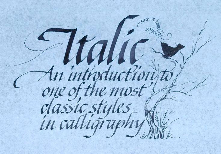 calligraphy italic - Hledat Googlem - Crafting Intensity