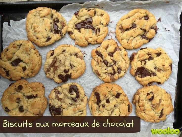 Une recette toute simple de délicieux biscuits aux morceaux de chocolat!