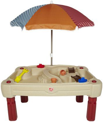 step 2 cascading cove sand water table with umbrella water tables sands and water. Black Bedroom Furniture Sets. Home Design Ideas