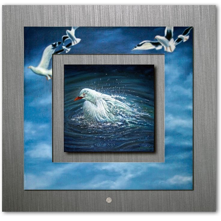 ON THE EASEL - Birdie has a Bath - Seagull Flight and washing http://ianandersonfineart.com/portfolio-2/