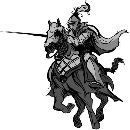 Riddare på häst Stor Väggdekor Barn