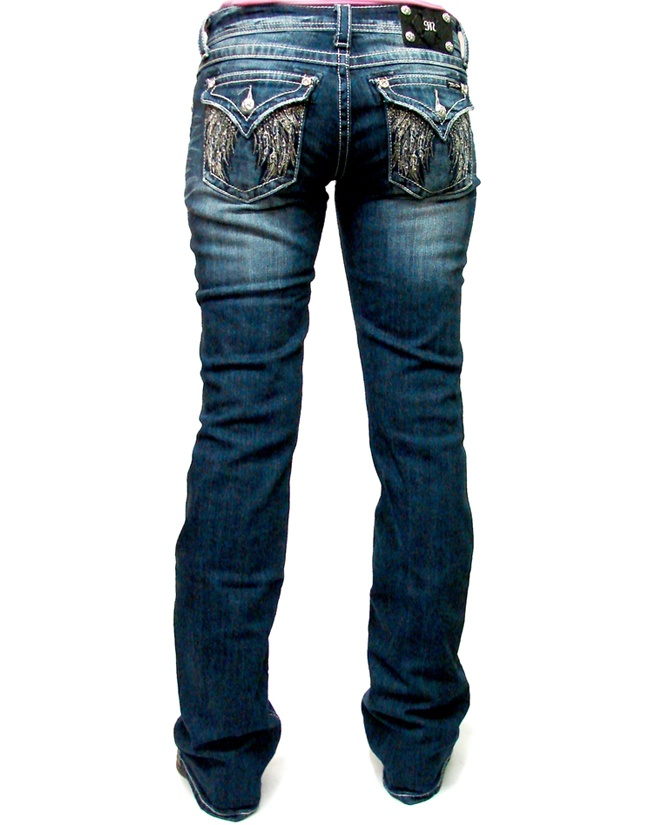 Love these... Miss Me Crystal Casscade Ladies Boot Cut Jeans