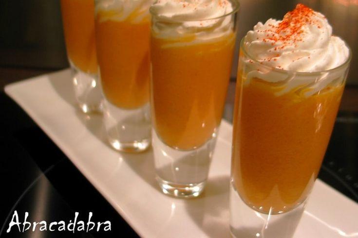 Cappuccino glacé carottes et cumin