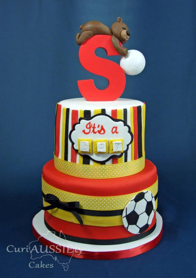 Baby Showers Manchester ~ Manchester united baby shower cake bolos beautiful