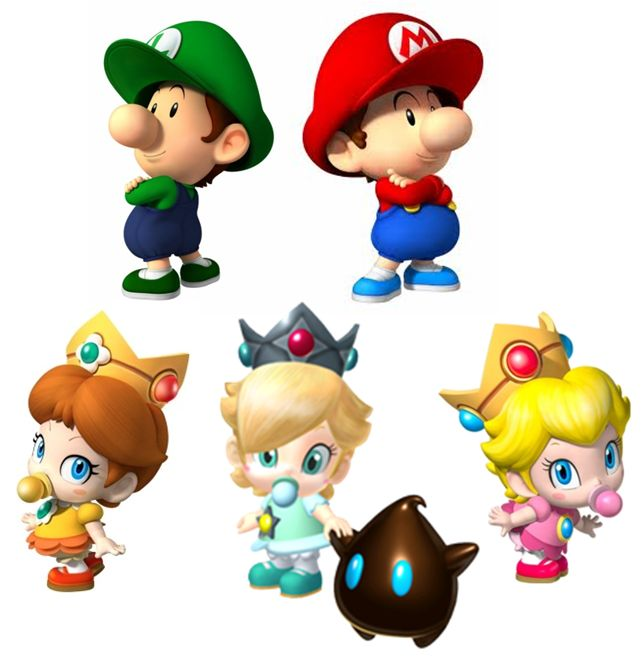 Baby Mario Baby Daisy and Rosalina Once before a long time ago, I saw one of this and up to now I still relish whenever I see it