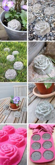 Easy to Make Concrete Roses.