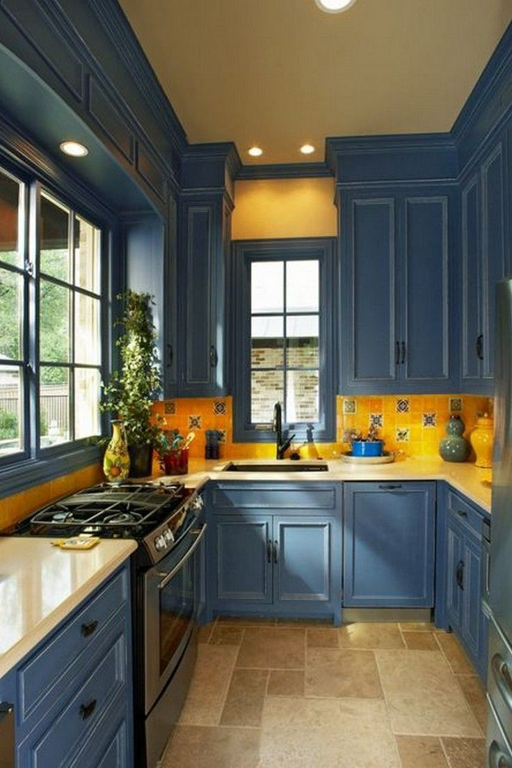 Beautiful Kitchens With Yellow Walls in 2020   Yellow ...