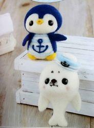 Kit japonais Pingouin et Phoque marins feutrage à l'aiguille -15%