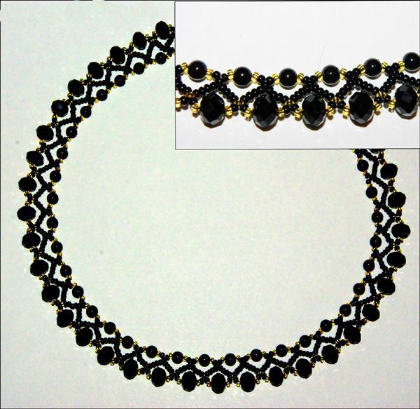 Free pattern for beautiful beaded necklace Bilberry