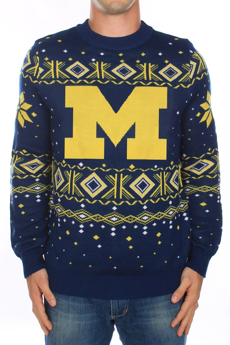 """-Made with 100% premiere acrylic yarn. -Double panel construction and reinforced seams. -Machine-washable. -Male model is 6'0"""" , 180 lbs, and is wearing a size large sweater. -The intricate nature of the weaving process for this design results in a sl"""